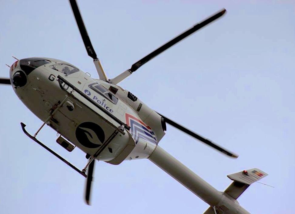 Helicóptero de la policía belga