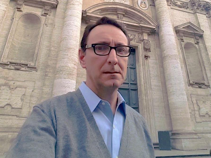 El superior del Sodalicio de Vida Cristiana, Alessandro Moroni, en Roma