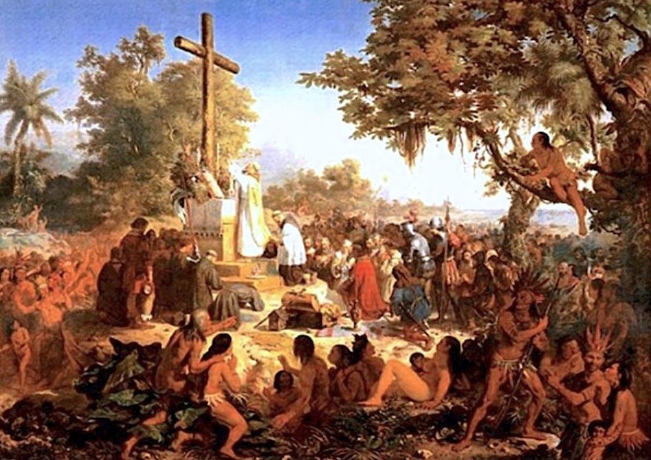 La primera misa celebrada en Brasil fue el 26 de abril de 1500