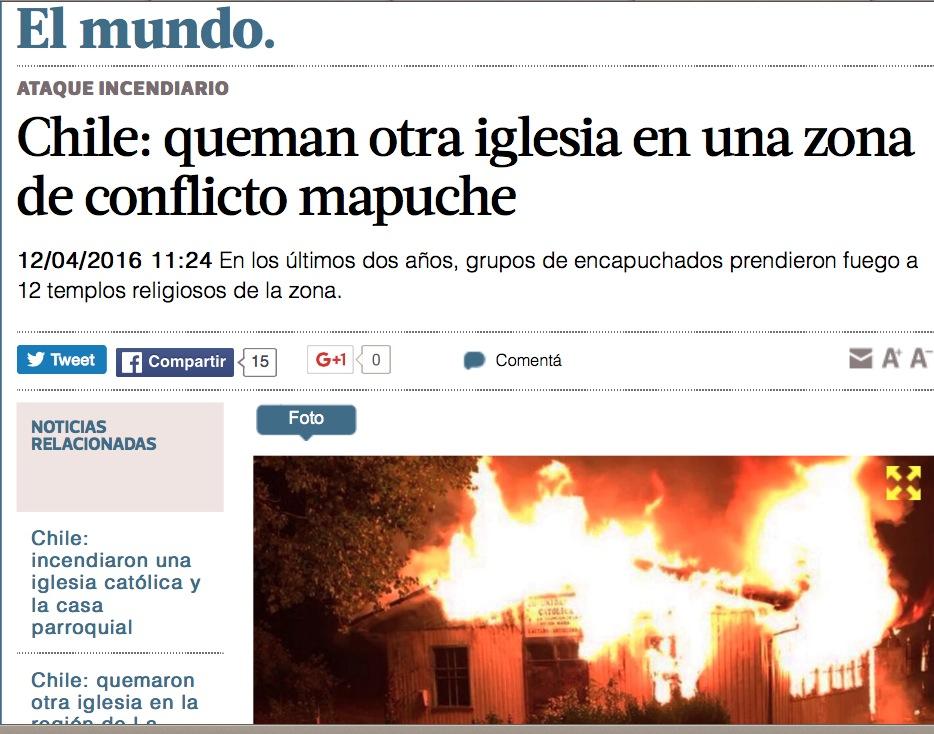 La web del diario chileno online El Mundo