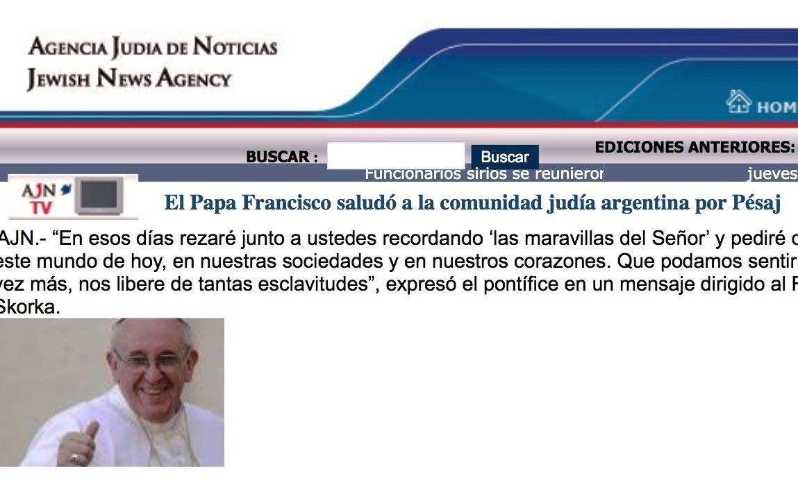 La web de la Agencia Judía de Noticias