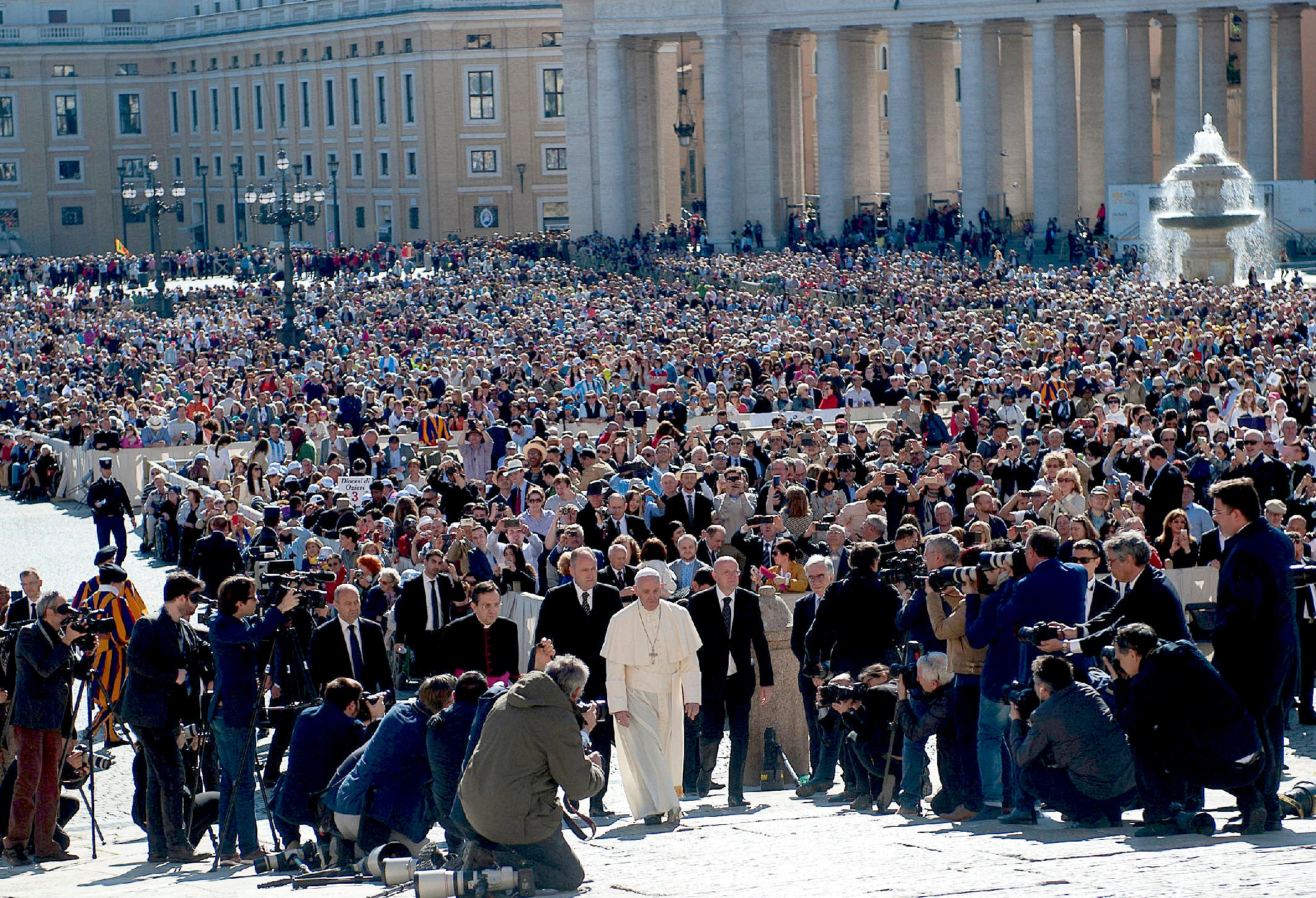 Audiencia del miércoles en la plaza de San Pedro