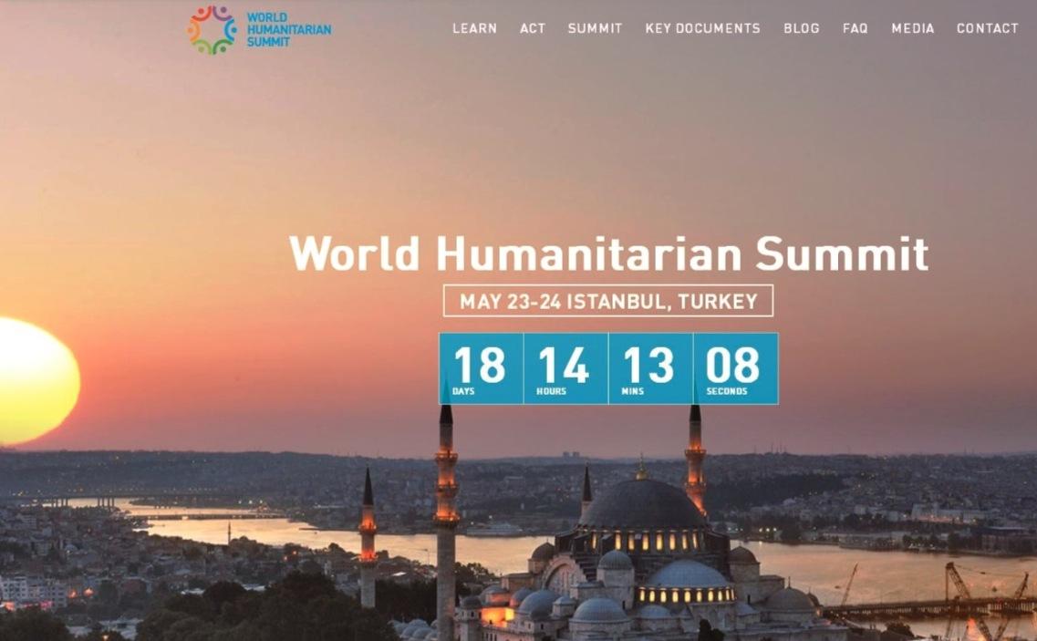 Logo de la Cumbre Mundial Humanitaria