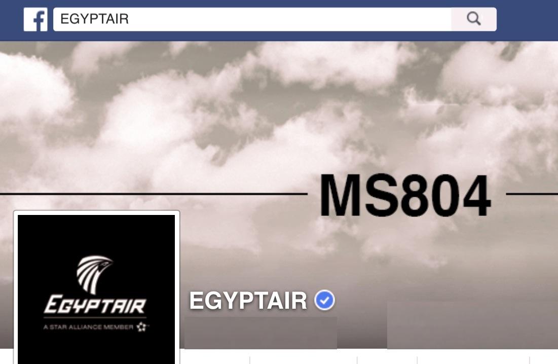 La compañía Egiptair manifiesta en Facebook su luto por el accidente del avión MS804
