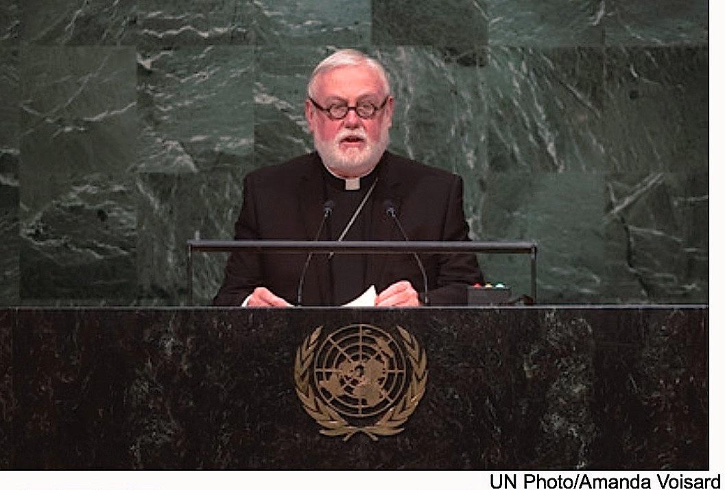 Mons. Gallagher en las Naciones Unidas (Archivo Zenit)