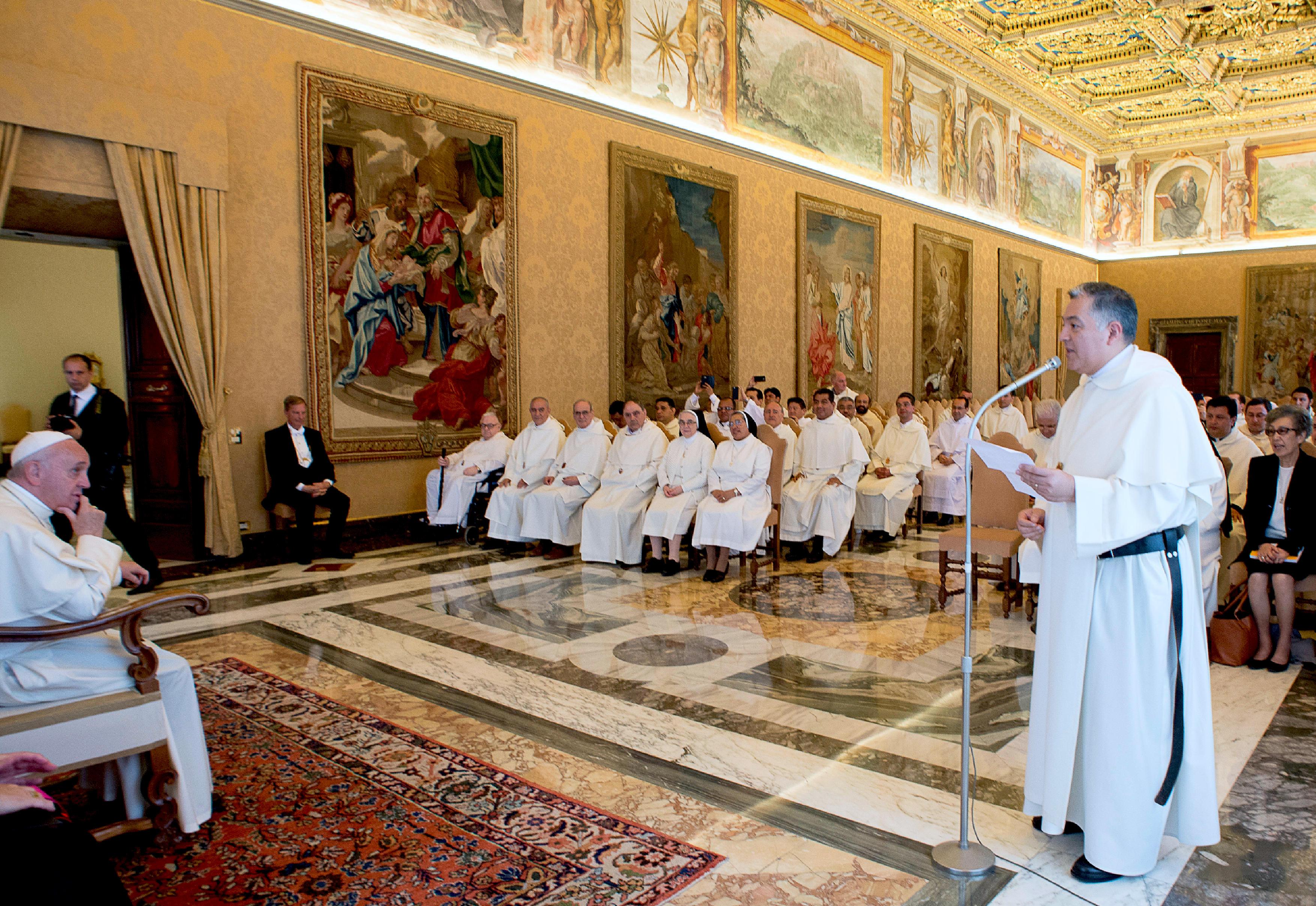 Mercedarios con el Papa