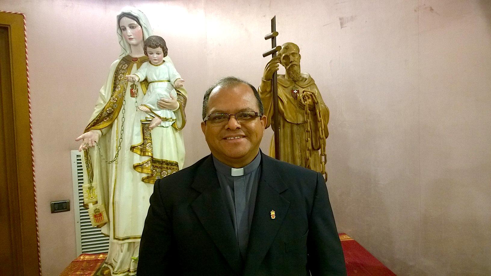 Mercedarios fray Juan Carlos Saavedra (Foto ZENIT cc)