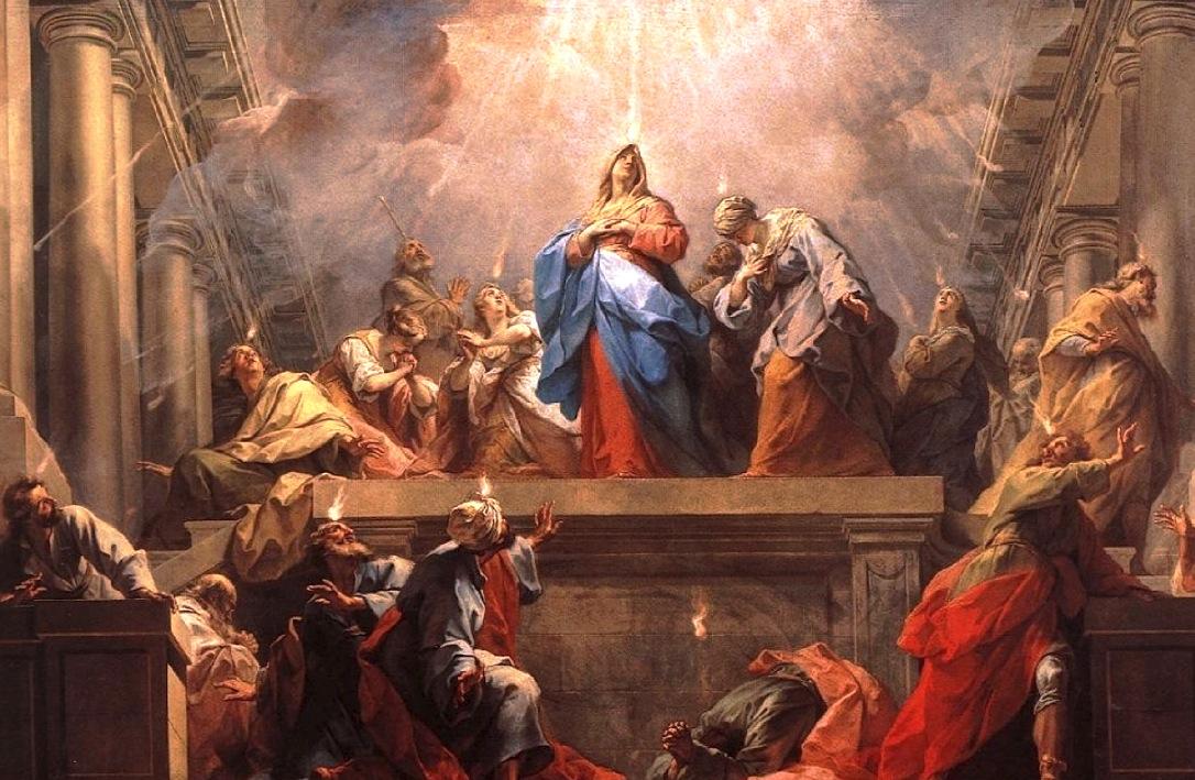 Pentecostés - (Autor: Jean II Restout, 1732 - Wiki commons)