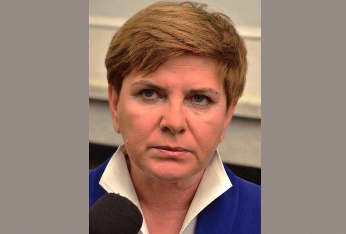 La primera ministra Polonia Beata Szydlo (Wiki commons - Adrian Grycuk )
