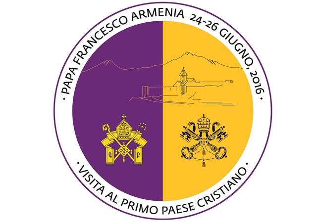 Logo y lema viaje papa Francisco a Armenia