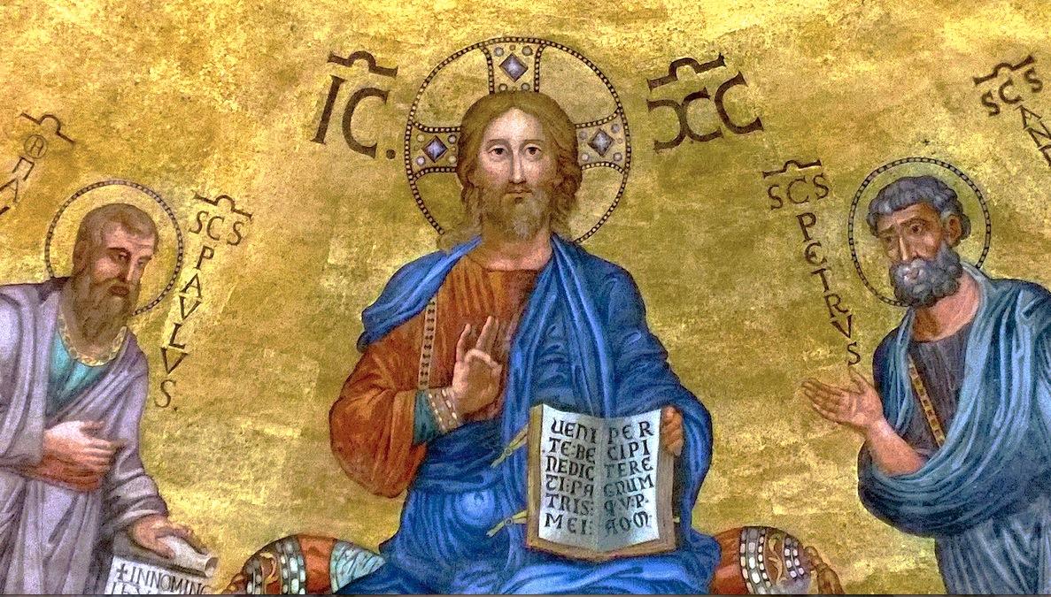 Mosaico de Cristo, en el apside de la basílica de San Pablo (Foto ZENIT cc)