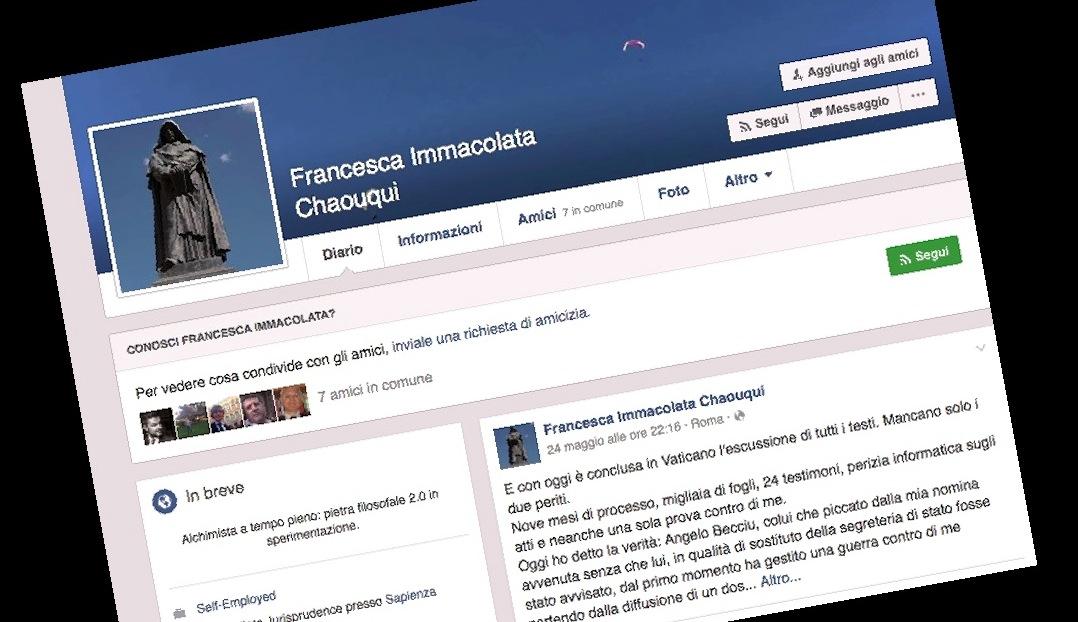 La página Facebook de Francesca Chaouquí
