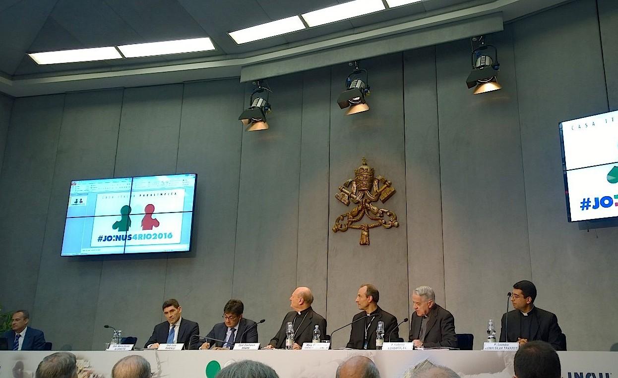 Presentación de los juegos paralímpicos 2016 en la Sala de prensa del Vaticano