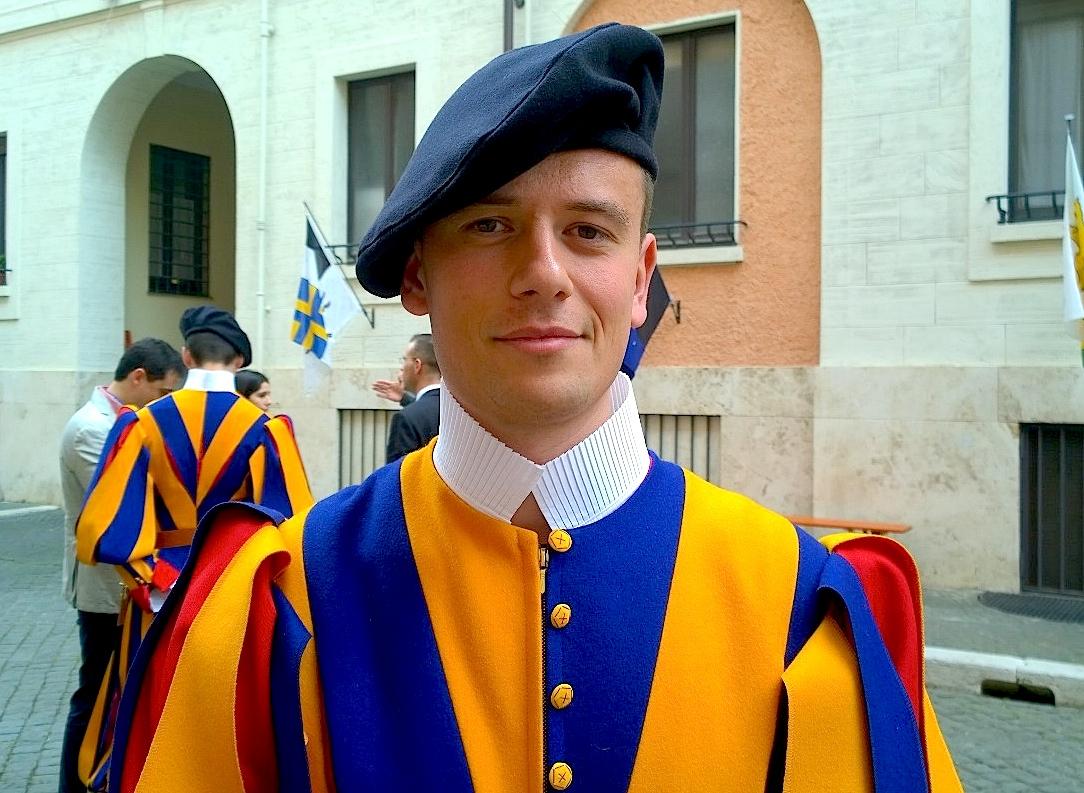 Mauro, un recluta de la Guardia Suiza el día antes del juramento (Foto ZENIT cc)