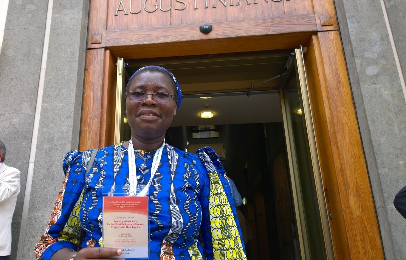 La religiosa Jeanne Cecile NYAMUNGU, coordinadora sanitaria en la República Democrática del Congo (Foto ZENIT cc)