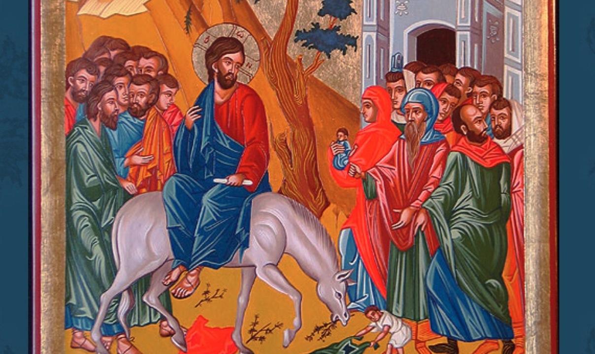 Jesús en Jerusalén- (Monastero del monte Atos 1535)