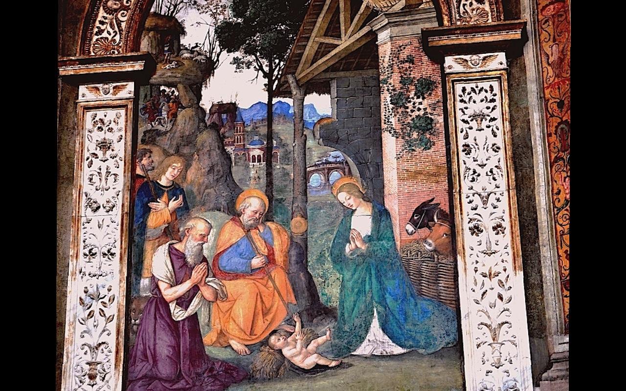 Navidad - cuadro del Pinturicchio (Foto ZENIT cc)