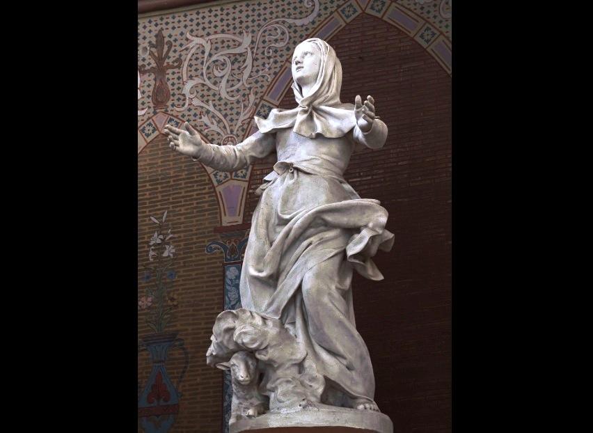 Estatuilla de Santa Germana (Foto Didier Descouens)