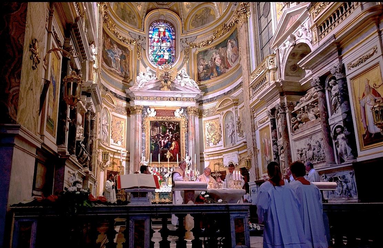 Celebración de la misa en una iglesia en Roma (Foto ZENIT cc)