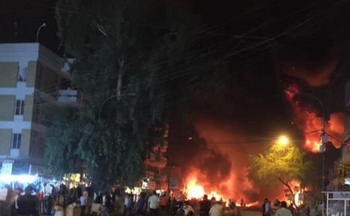 Atentado en Bagdad (Foto en twitter de @abdullahawez)