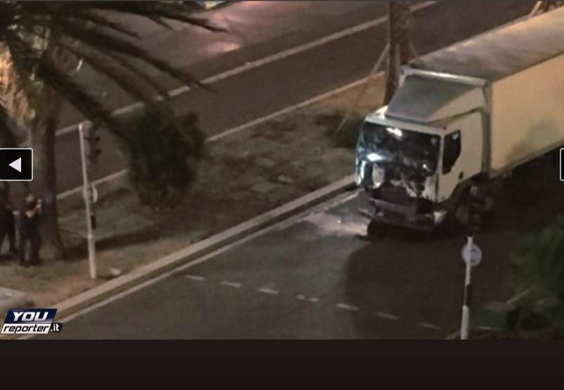 El camión del atentado en Niza (Youreporter.it)