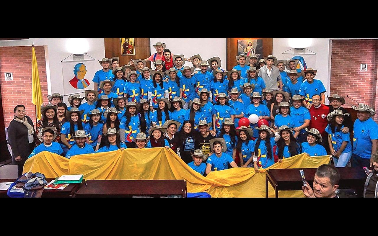 Colombianos parten a la JMJ de Cracovia (Foto cortesía jmjdelcolombia. wix.com)
