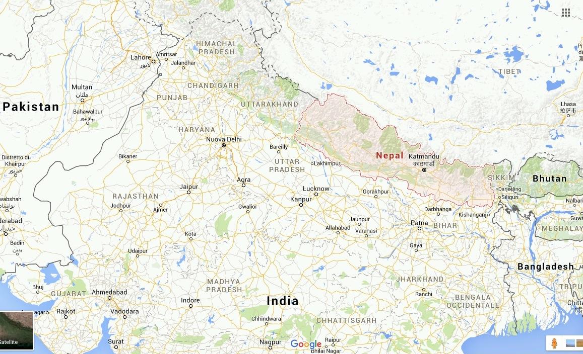 Nepal en Google Maps
