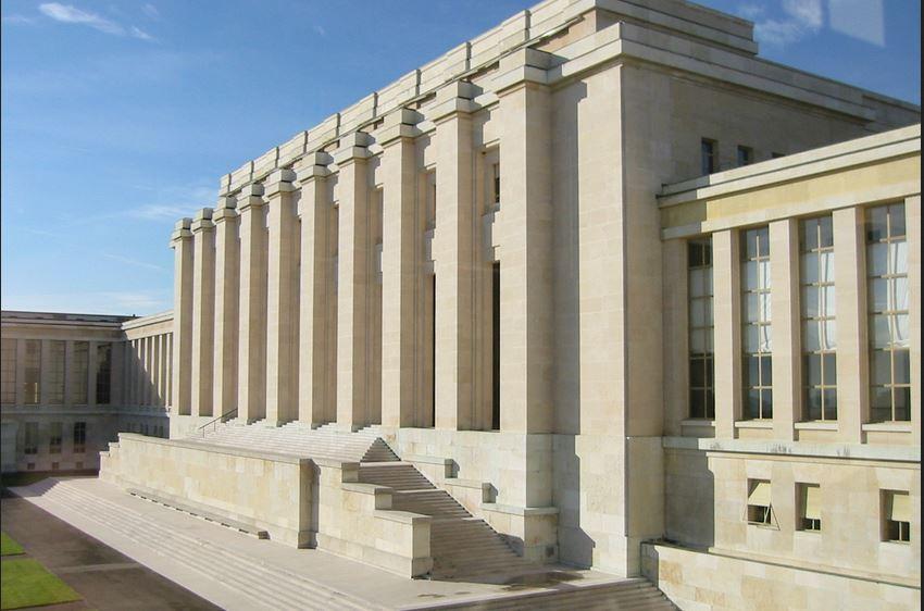 El palacio de las Naciones Unidas en Ginebra