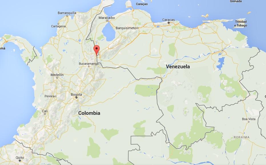 La ubicación de Cúcuta en Google maps