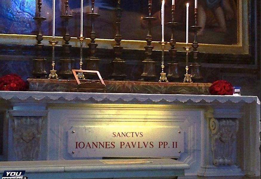Tumba de Juan Pablo II, en la basílica de San Pedro (Youreporter.it)