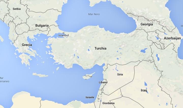 Turquia, mapa de Google