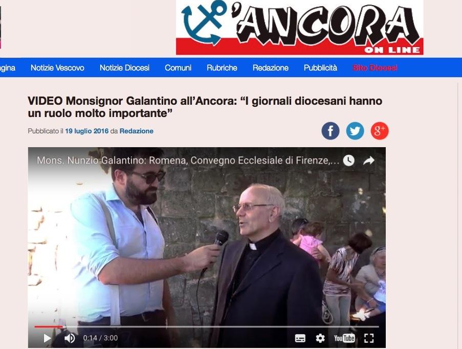 L'Ancora, el diario diocesano de San Benedetto del Tronto, en Italia
