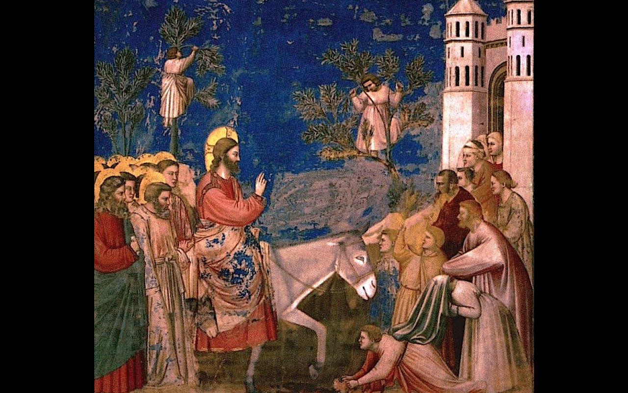 Jesús ingresa en Jerusalén - Fresco Giotto, capilla Scrovegni