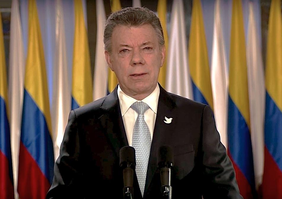 Juan Manuel Santos (Foto cadena nacional)