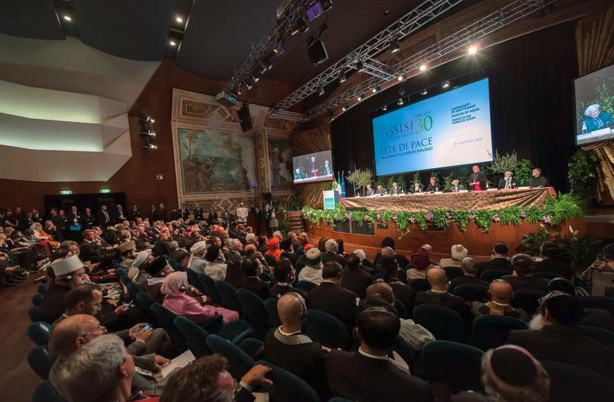 Asís encuentro Sed de Paz. inauguración (Foto prensa San Egidio)