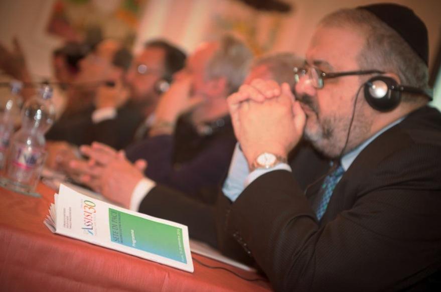 En una de las conferencias del encuentro por la Paz en Asís