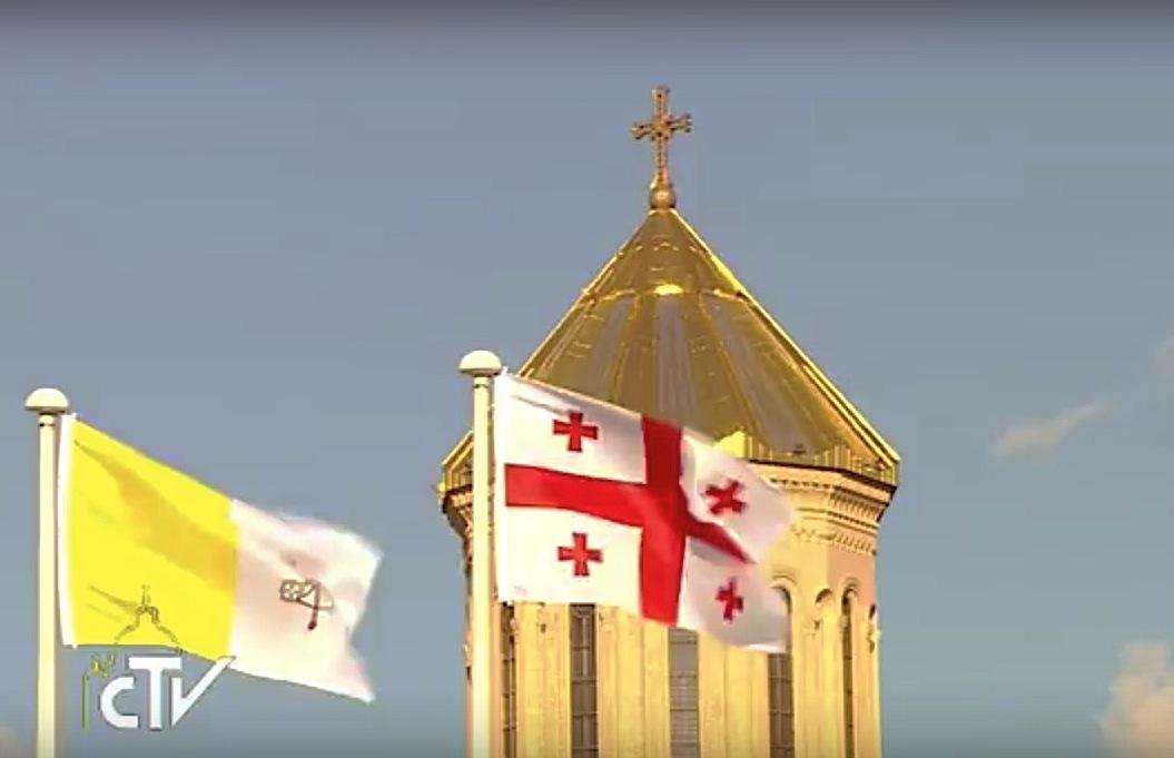 Banderas de Georgia y del Vaticano
