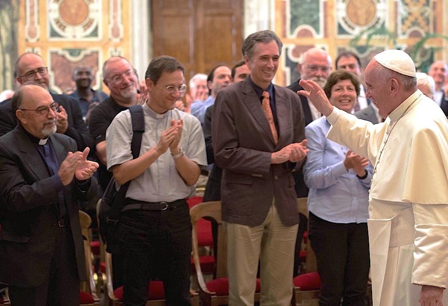Audiencia del Papa con la Asociación Bíblica Italiana en la Sala Clementina (Foto ©Osservatore Romano)
