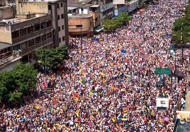 Manifestación 'Toma de Caracas', (Foto Facebook)