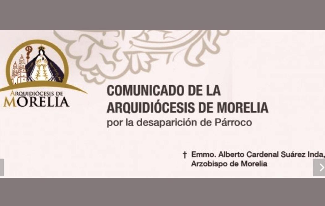 Comunicado de Morelia sobre el sacerdote secuestrado en Michoacán