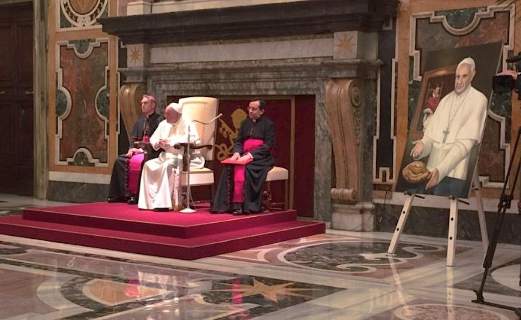 El Papa al Orden de los periodistas (Foto ZENIT cc)