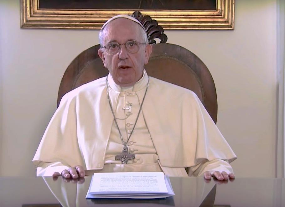Vídeo mensaje del Papa Francisco (Foto Archivo)