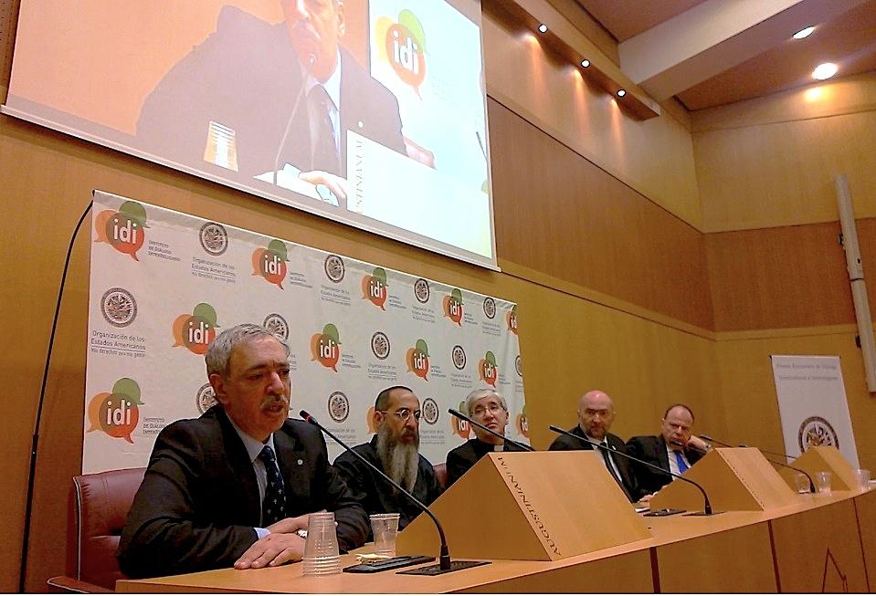 Los organizadores del evento en la rueda de prensa (Foto ZENIT cc)