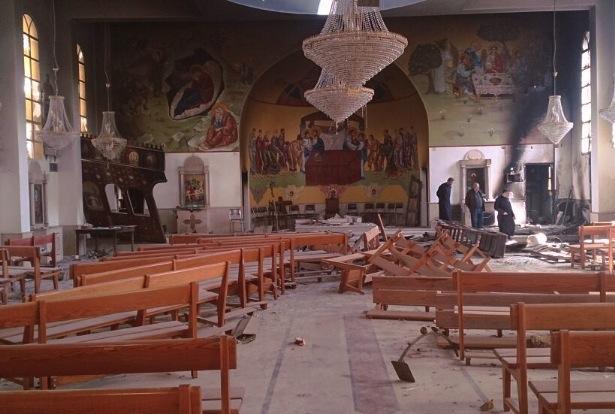Iglesia destruida en Siria (Foto Ain)
