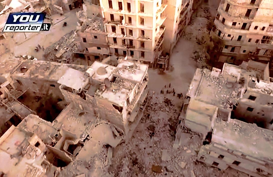 Como ha quedad el centro de la ciudad de Alepo (youreporter-it-cc)