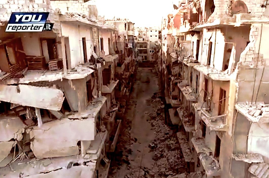 Alepo desde un drone (youreporter.it cc)