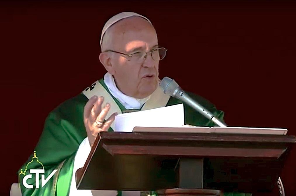 Homilía de Francisco en el Jubileo Mariano