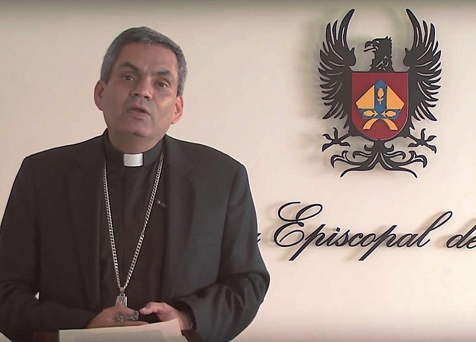 Monseñor Elkin Fernando Álvarez Botero, Secretario General del Episcopado (Frame video CEC)