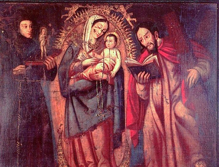 Nuestra Sra del Rosario Virgen de Chiquinquirá de Baltasar Vargas de Figueroa