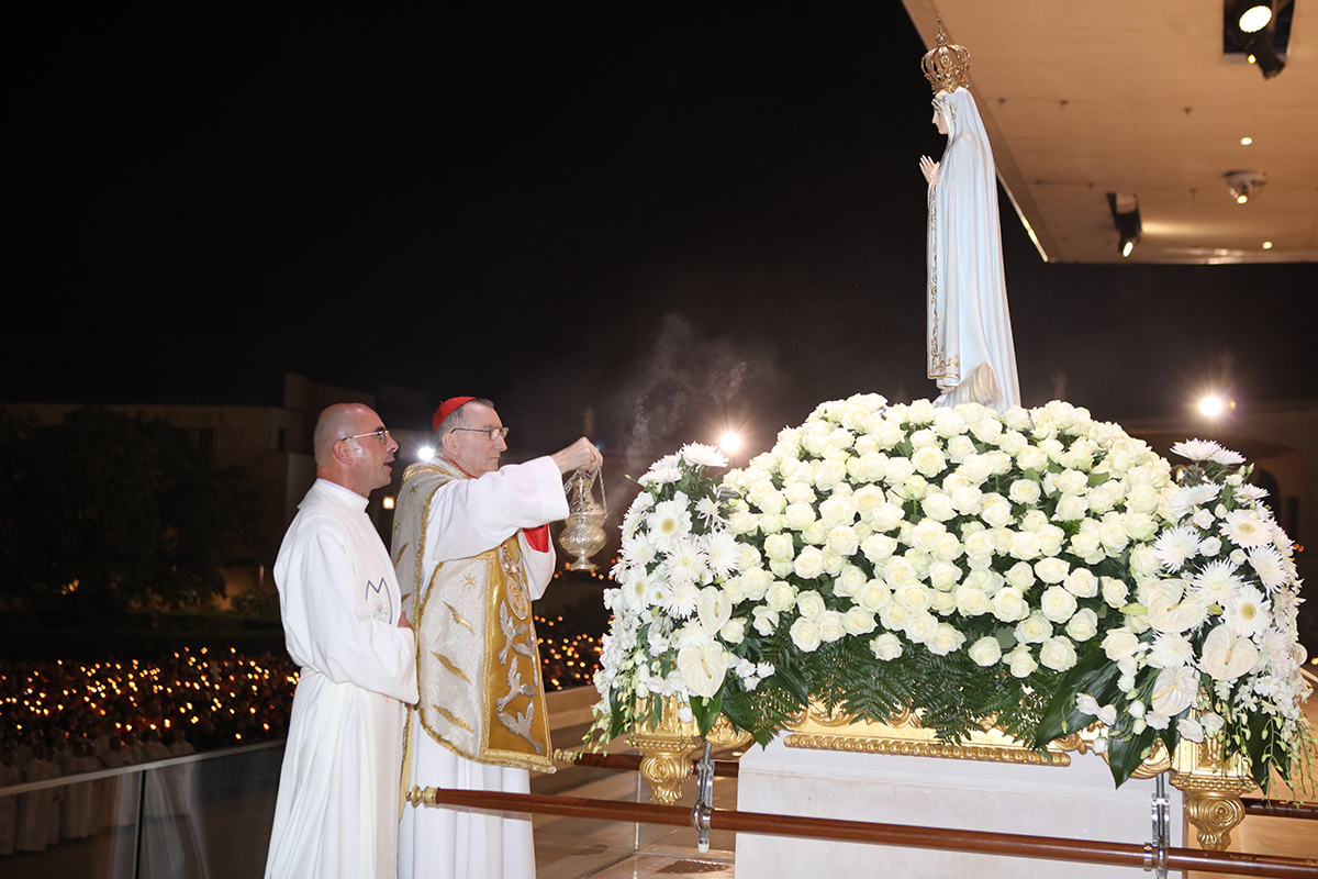 El cardenal Pietro Parolin en Fátima con motivo de los 99 años de las apariciones marianas (Foto cortesía del santuario)